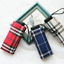 Творческий 5 раза путешествия зонтик дождь женские Мини-супер легкий карман британский стиль ручной зонтик женские резиновые/Защита от солнца Дети Paraguas