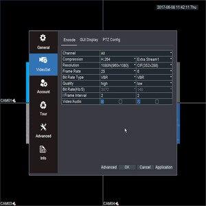 Image 5 - KEEPER enregistreur vidéo hybride DVR, 4 canaux 1080N AHD Full HD, 5 en 1, compatible TVI CVI AHD CVBS IP, 4