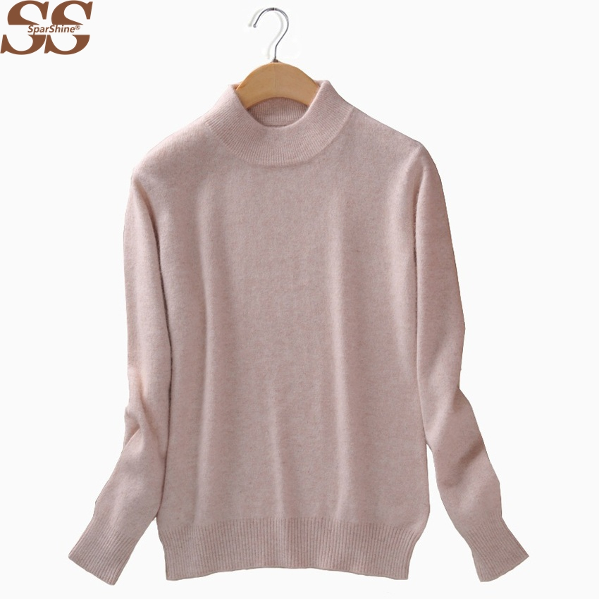 Women Knitted Sweater And Pullovers Ladies Tops High Quality Cashmere Sweater Pull Femme Christmas Sweater Solid Female Sweater