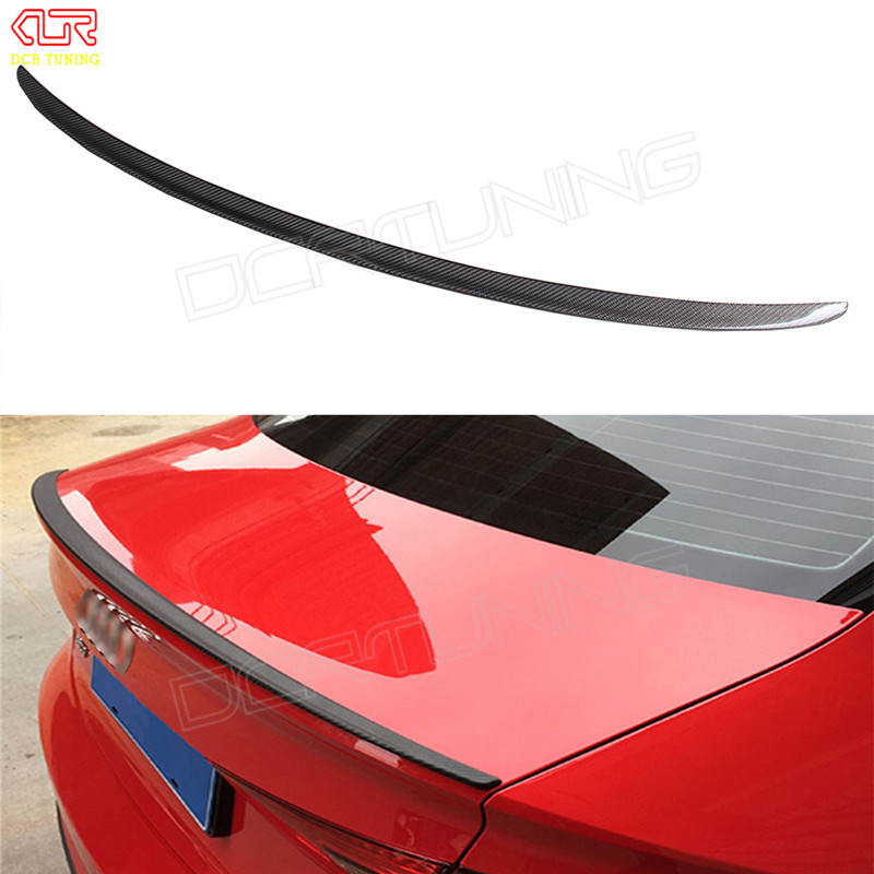S3 Style For Audi A3 Spoiler 2014 2015 2016 - UP A3 8V Carbon Spoiler Rear Trunk Boot Spoiler Lids for a3 8v carbon fiber s3 style for audi a3 sedan carbon fiber rear trunk spoiler wing 2014 2015 2016