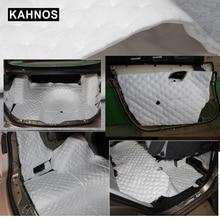 50*80 см самоклеющиеся шумоизоляция Водонепроницаемый Тепло хлопок фольга материал для двери автомобиля багажник капот потолок пена интерьер