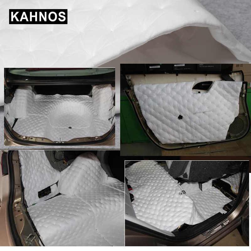 50*80cm auto-adhésif isolation phonique imperméable à l'eau chaleur coton feuille matériel pour voiture porte coffre capot plafond mousse intérieur