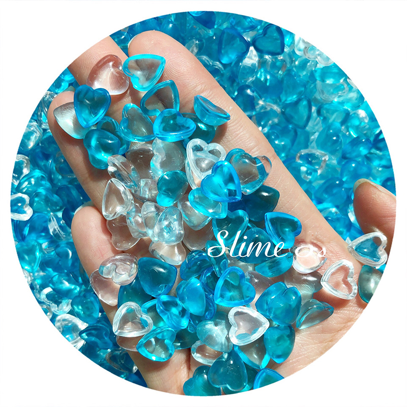Boxi In Stock Slime Additives Charms Supplies Transparent Heart Fishbowl Beads Accessories Sprinkles For Fluffy Clear Slime