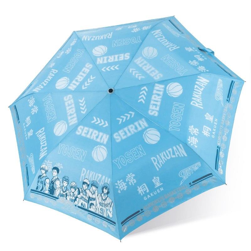 Kuroko no Basket anime KAGAMI Three Folding fashion daily Rain/Sun Umbrella Anti UV comics cartoon women's anti uv sun protection sunny rain folding parasol umbrella