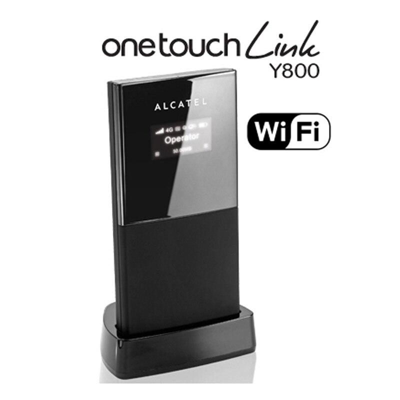 Boîte d'origine débloqué Alcatel One Touch Y800 4g wifi routeur 4g Sans Fil routeur 4g mifi dongle Mobile hotspot pk y855 760 s e589