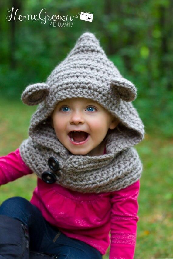 Baby Mit Kapuze Bär Gugel Tier Hut Mit Kapuze Schal Crochet