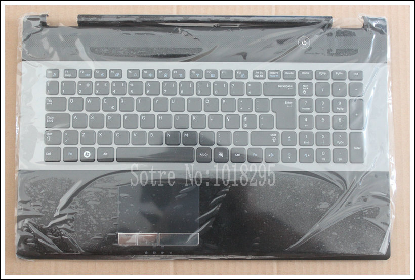 NEW For Samsung RC730 NP-RC730 Palmrest Accembly Portuguese PO Laptop Keyboard Touchpad BA75-03204L