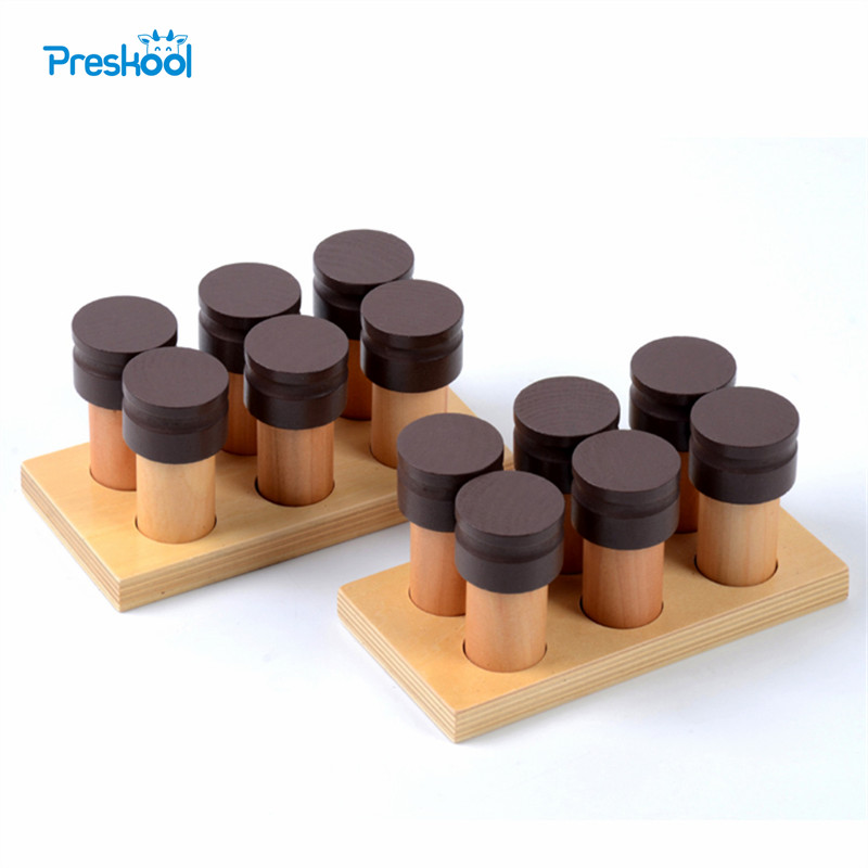 Home Montessori Wooden Cylinders Educational Toys Kids Children Early Teaching Gift Elegant In Smell