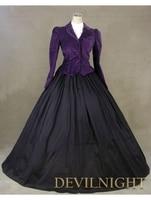 Purple Jacket Winter Gothic Victorian Costume Dress