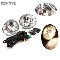 MZORANGE Front Fog Light for Toyota RAV4 2004 2005 for Toyota Avalon 2005 2007 Clear Lens Halogen Bulbs Lower Bumper Fog lamps