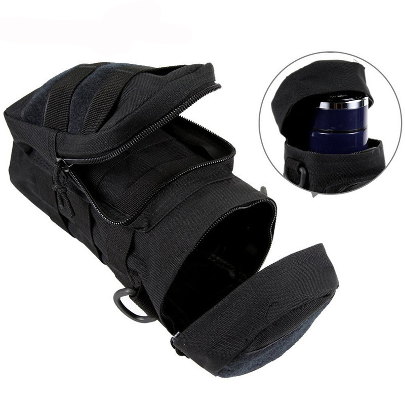 Pocket Water Bottle Molle Pouch Military Compact Carry Bottle Pack Tactical Kettle Pouch with Hook Holder for Camping Hiking   Islamabad