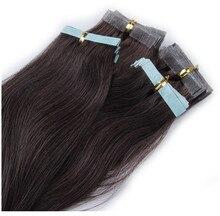 40pcs hot sale Brazilian Hair Virgin fake hair 6A Grade Non-trace receiver PU skin weft hairpiece Hair Extensions Real Human