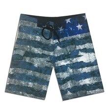2019 New Men Beach Shorts Quick Dry Swim Bermuda Surfing Shorts Mens Boardshorts Summer Elastic Striped Board Shorts Boys недорго, оригинальная цена