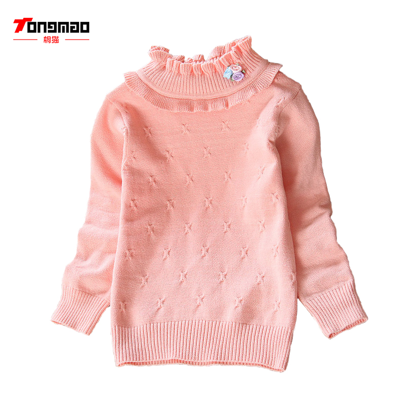 2017 new sweater sets of cotton sweater baby children half of the high collar shirt shirt line clothing
