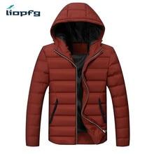 2017  men winter coat 5XL size hooded leisure men' jacket cotton uniform color side seam pocket youth men'scotton jack WN75