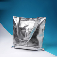 Free Shipping New Classic Simple PU Black White Silver Gold Red Women Simple Cheap Shoulder Bags