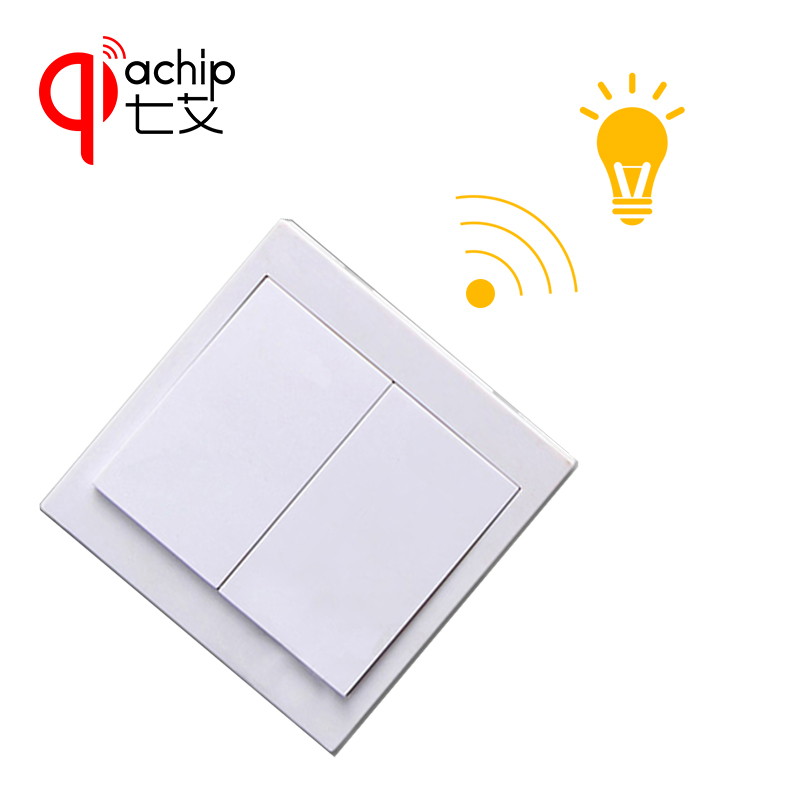 433Mhz Remote Control Switch Wall Panel Wall Transmitter and RF Receiver for AC 110V 220V Ceiling Lamp Light Wireless Controller 315mhz 433mhz ac 85v 250v 4ch rf wireless remote control switch 3pcs transmitter and receiver for rolling gate electric doors