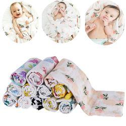 Детское одеяло, детское муслиновое одеяло, Пеленальное хлопковое мягкое банное полотенце для новорожденных, Пеленальное Одеяло, многофунк...