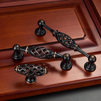 5pcs Birdcage Door Handle Antique Furniture Knobs And Handles For Kitchen Cabinets Vintage Closet Handle Drawer