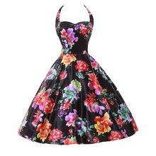 Audrey Hepburn Style Vintage Dresses Summer Plus Size Casual Party Robe Rockabilly Vestidos floral 50s Big Swing Retro Dress