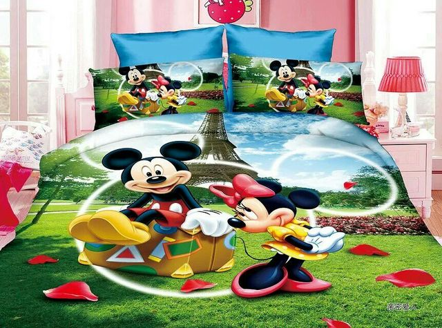 Mickey And Minnie Bedding Set Children S Baby Girls Bedroom Decor