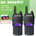 2 unids BaoFeng UV-82 de Doble Banda 136-174 MHz y 400-520 MHz MHz FM Walkie Talkie Jamón protable de radio de dos vías Transceptor baofeng uv82