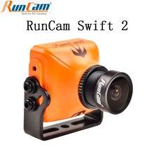 Runcam swift 2 1/3 ccd 600tvl pal micro câmera ir bloqueado fov 130/150/165 graus 2.5mm/2.3mm/2.1mm com osd mic rc multicopter