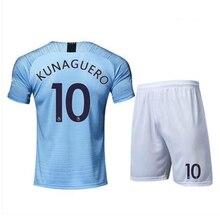 82280778a 18-19 Manchester City Jersey KUNAGUERO & SILVA &Customizable name number  Premier League Football Team