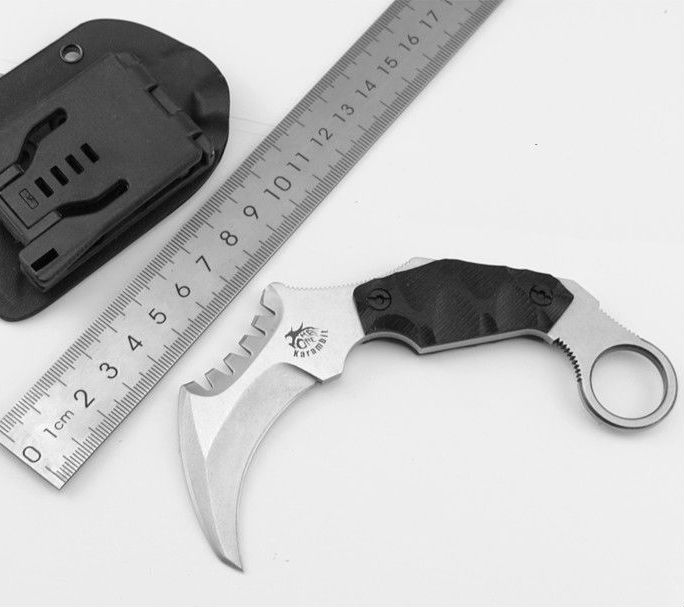 Karambit Knife THE ONE HS Fixed AUS-8 Blade Knife Survival Knives Hunting Tactical Knifes G10 Handle Camping Outdoor Tools C