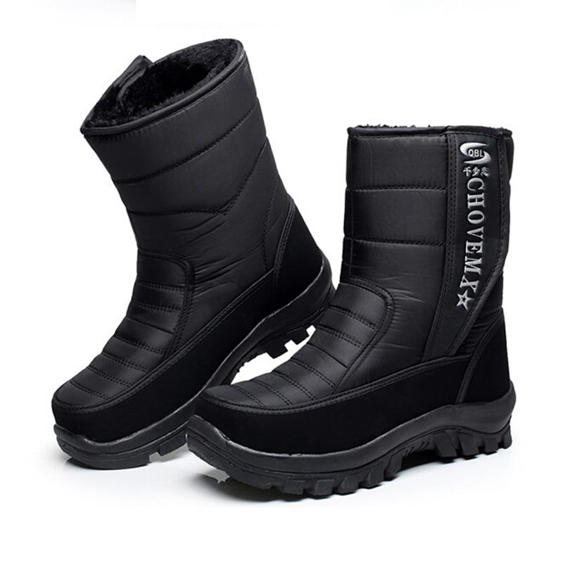 Winter men's snow boots 2016 warm bota masculia outdoor high men boot non-slip shoes demin plus velvet cotton-padded waterproof