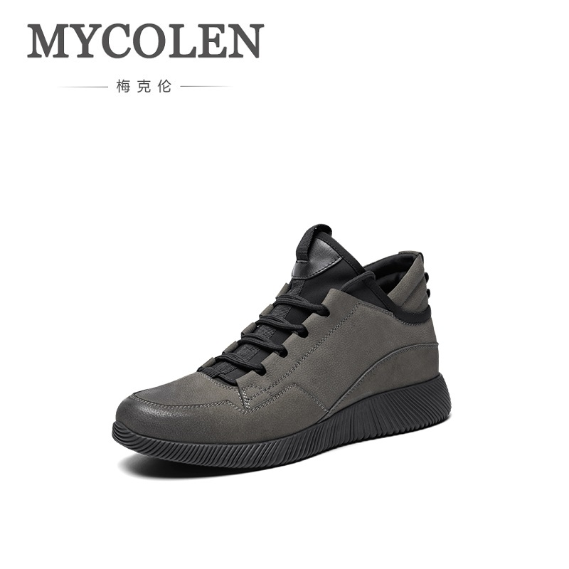 MYCOLEN 2018 Men Lightweight Sneakers Shoes Lace-Up High Top Arrival Outdoor Tide Man Causal Shoes Chaussure Sport HommeMYCOLEN 2018 Men Lightweight Sneakers Shoes Lace-Up High Top Arrival Outdoor Tide Man Causal Shoes Chaussure Sport Homme