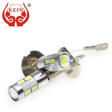 KEIN 2pcs H1 H3 led fog Light 10smd DRL led car Light 5630 5730 Daytime Running Vehicle External Lamp Bulb Day Driving 12V 6000K(China)
