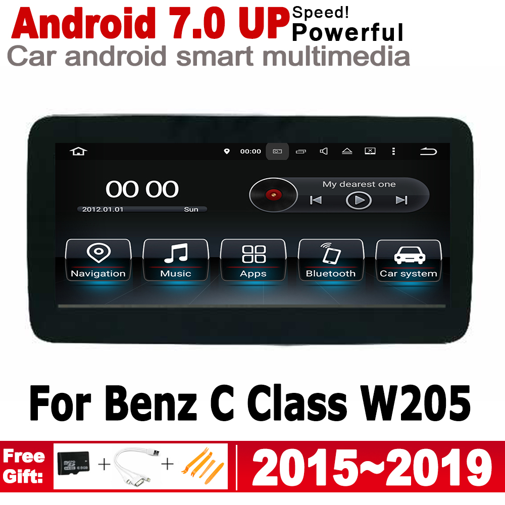 Android 7.0 up Car radio GPS multimedia player <font><b>For</b></font> <font><b>Mercedes</b></font> Benz C Class W205 2015~<font><b>2019</b></font> NTG Navigation 2G+16G HD Screen WiFi BT image