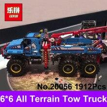 LEPIN 20056 1912 Pcs Série Technique Le Tout Terrain 6X6 Télécommande Camion Blocs de Construction Briques Compatible 42070 Jouet