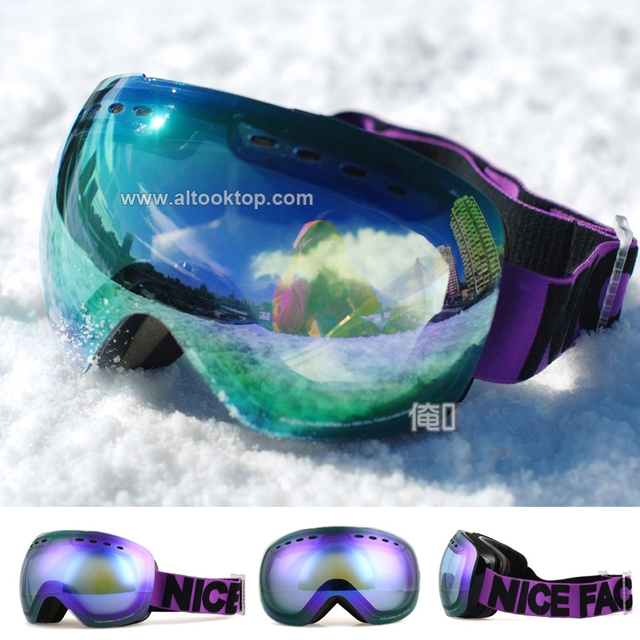 20colors ski goggles Free shipping Winter anti-ultraviolet & fog snowmobile skiing glasses Men Women christmas Snowboard googles