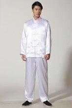 Fábrica libre del envío Precio kungfu chino tradicional ropa para hombres camisa de kung fu taiji traje set 4 color Barato