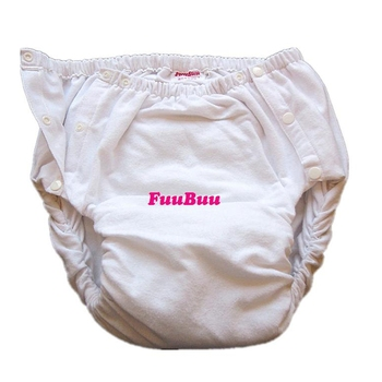 Free Shipping  FUUBUU2042-WHITE-XL  Adult Diaper/ incontinence pants/ diaper changing mat/Adult baby