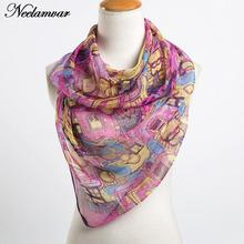 women fashion scarves wholesale thin oblong georgette scarf popular paisley pattern print shawl in Autumn and Winter