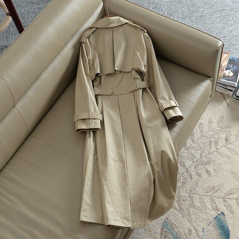 coat Double Breasted S 2019 coréen Couleurs Ceintures Classique Trench Windcoat xxl Kaqi poussière Printemps Taille Cache Femmes Kaki Nouvelle Conception qvqPwX