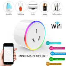 Smart Plug Wifi Smart Socket Power Monitor EU US AU UK Plug Outlet Works with Google Home Mini Alexa IFTTT Smart Home Sockets