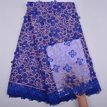 Embroidery Lace Fabric With Stones African French Tulle Lace Fabric For Women Clothes A1291