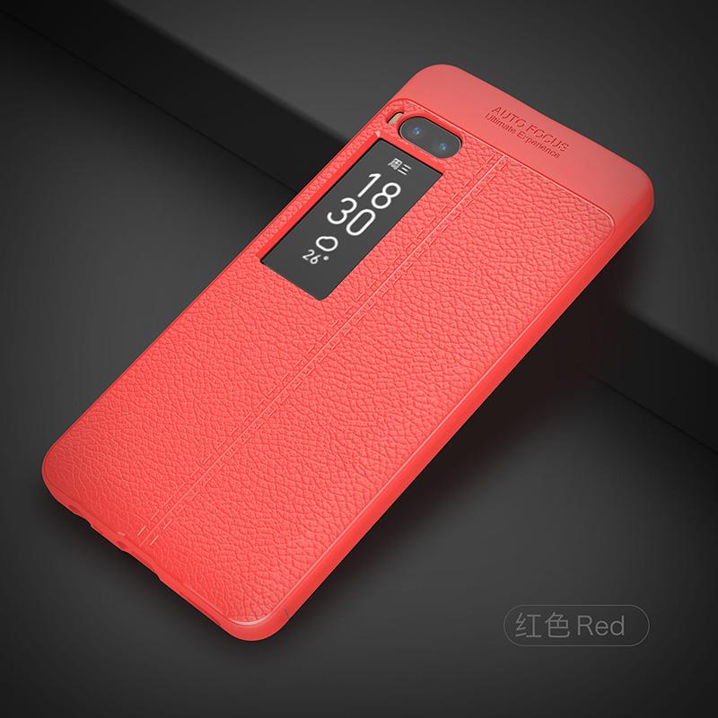 Litchi leather silicone case Meizu Pro 7 (20)