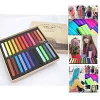 24 Colors DIY Fast Non Toxic Temporary Hair Chalk Dye Soft Pastel Kit New