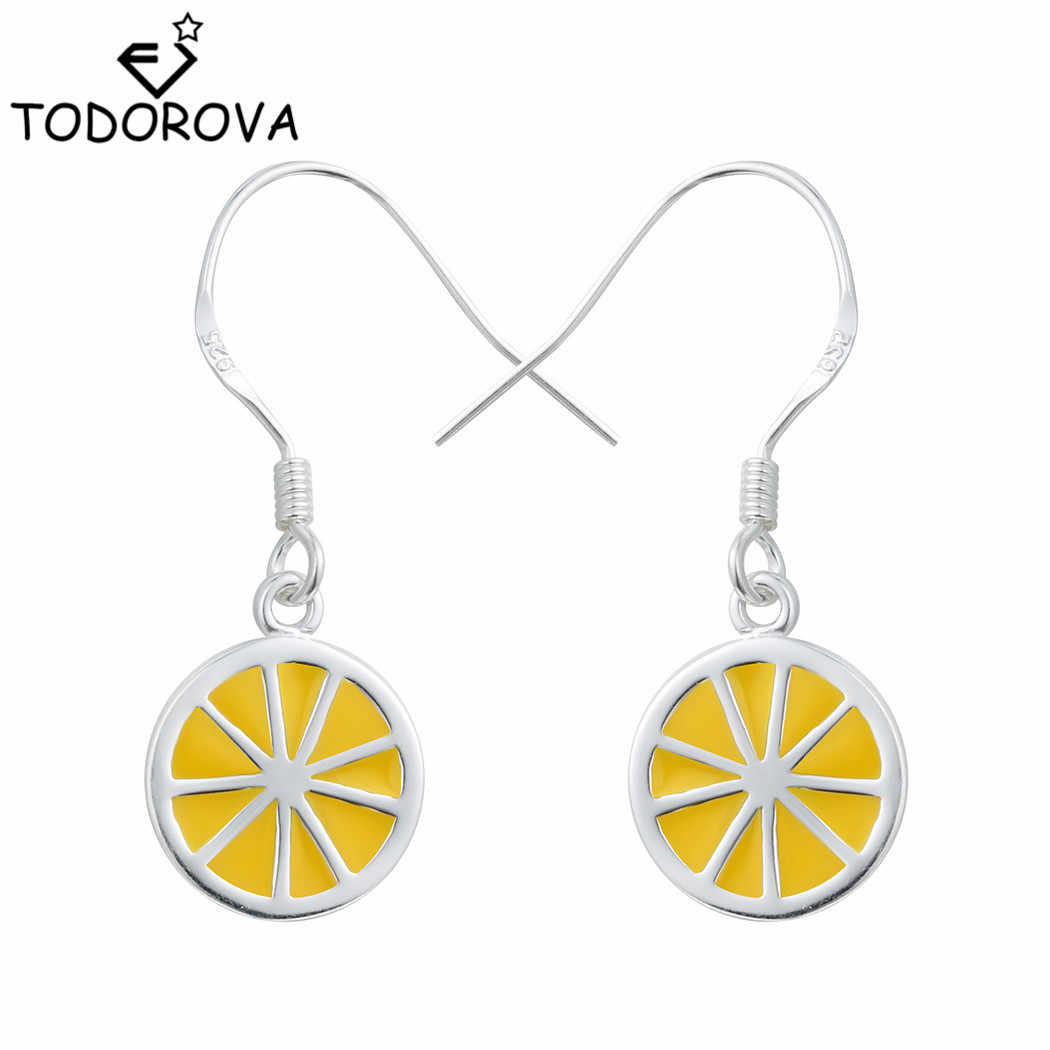 Todorova Original    Jewelry Lemon Slice Fruit Drop Dangle Earrings Lovely Sweet Earrings Gift for Women Girls
