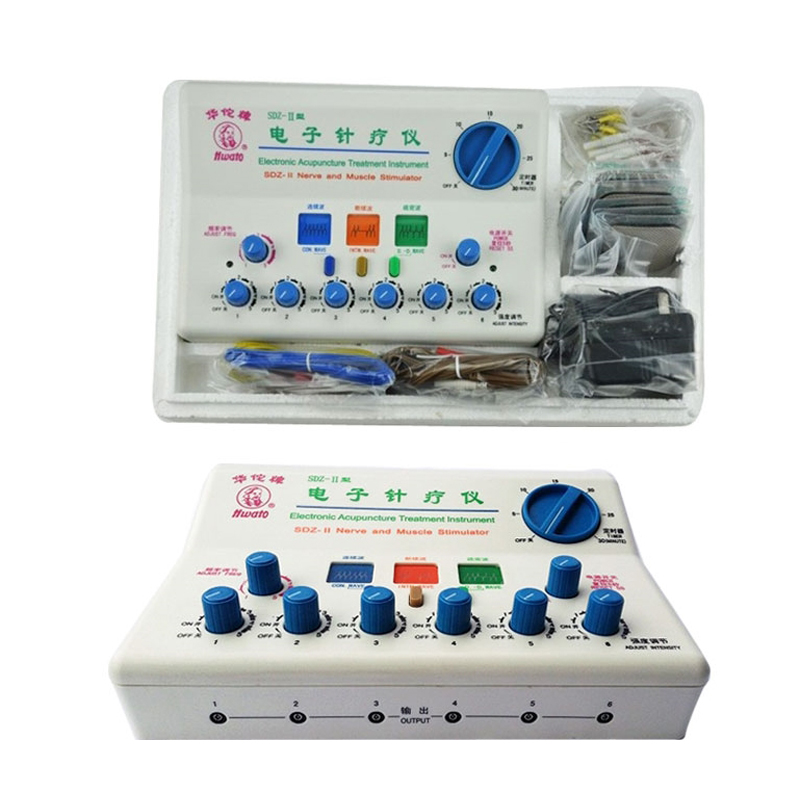 Hwato Nerve/ Muscle Stimulator SDZ-II electronic acupuncture massage pulse excite instrument one set hwato computer random pulse acupuncture treatment instrument smy 10a nerve and muscle stimulator tens 10 channels output ce appr