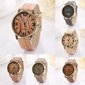2016 Hot Sale Vintage Wood Grain Watches Fashion Women Quartz Watch Wristwatches Gift Good-looking AP 2