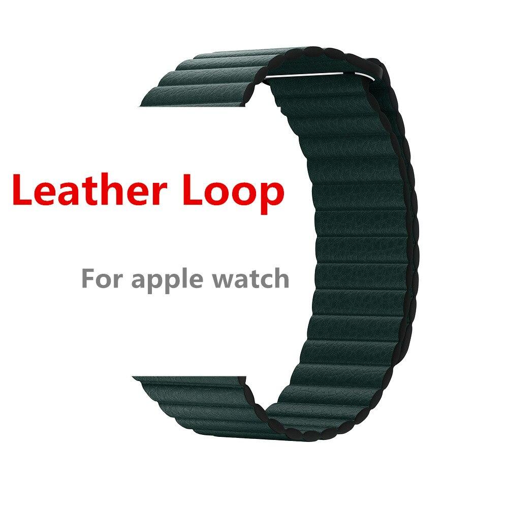 Leder schleife strap Für apple watch 4 band 44mm 40mm iWatch 3/2/1 bands 42mm 38mm armband armband Magnetische Verschluss handgelenk gürtel
