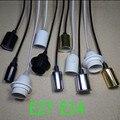 Pingente Lâmpadas E27 E14 suporte Da Lâmpada de Soquete Para Edison Lâmpada Fio luzes Led Ajustável DIY 110 V 220 V