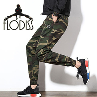 FLODISS 2018 Cool Camo Hip Hop Sweatpants Men Army Green Camouflage Slim Pants Jogger Gym Running