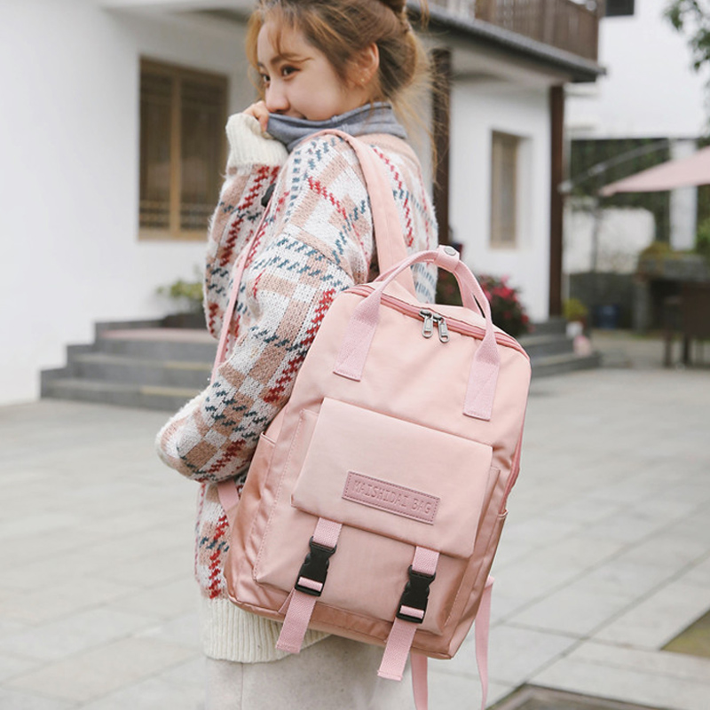 New Preppy Style School Backpack Female Large Capacity School Backpacks Bag For Teenage Girls Fashion Bookbag Women Shoulder Bag